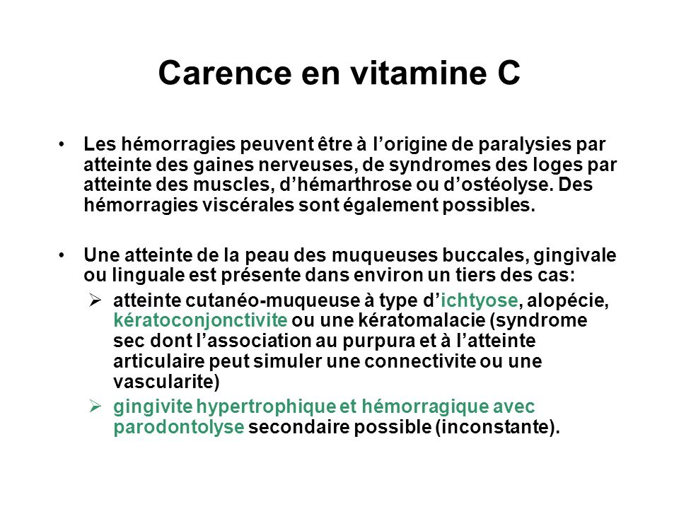 Carence en vitamine C