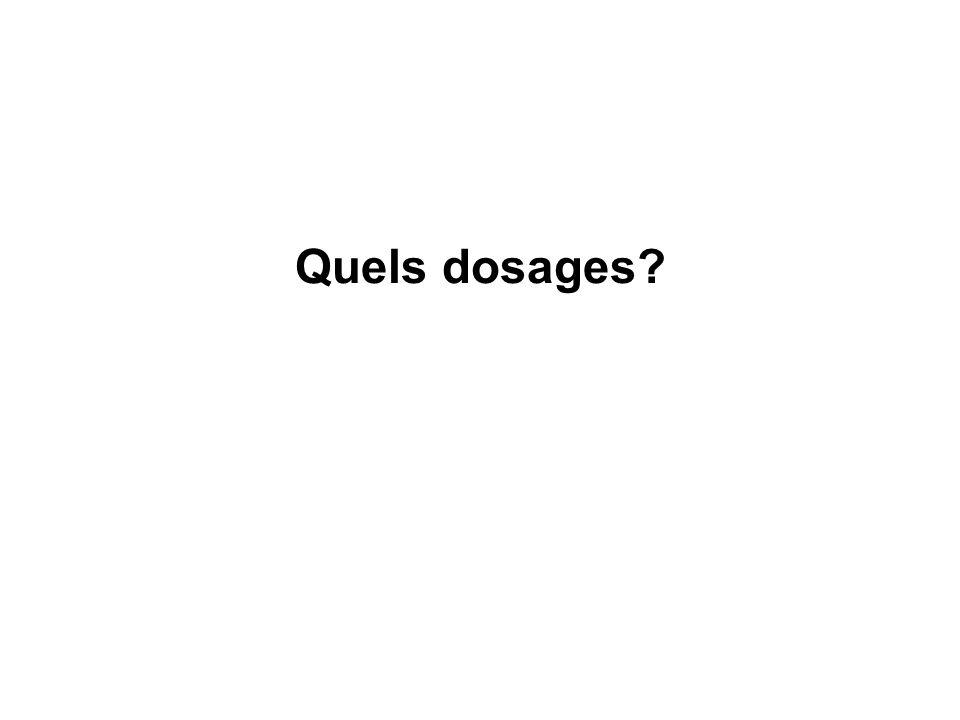 Quels dosages