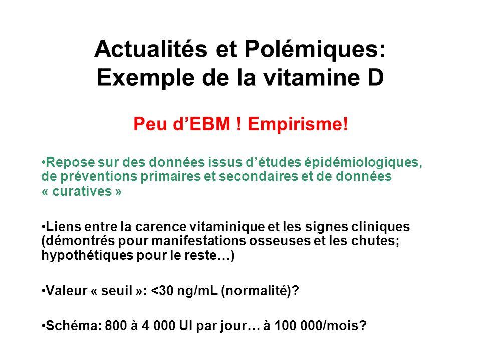 Actualités et Polémiques: Exemple de la vitamine D