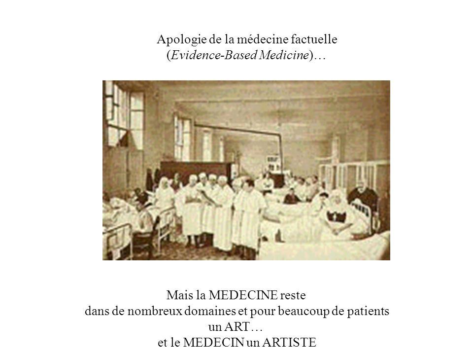 Apologie de la médecine factuelle (Evidence-Based Medicine)…
