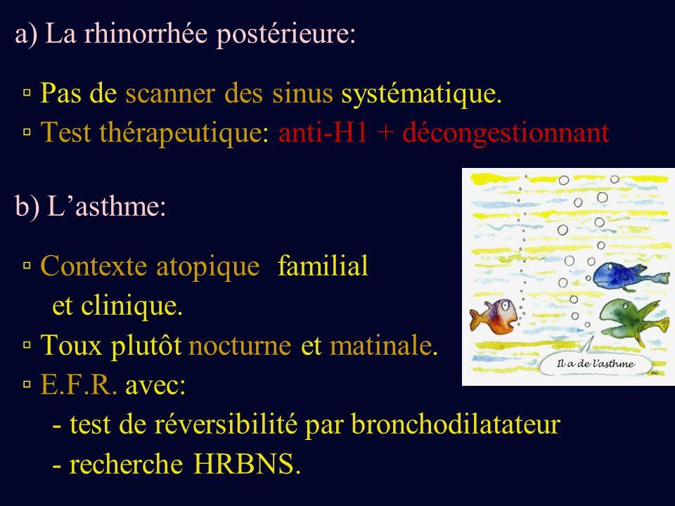 a) La rhinorrhée postérieure: