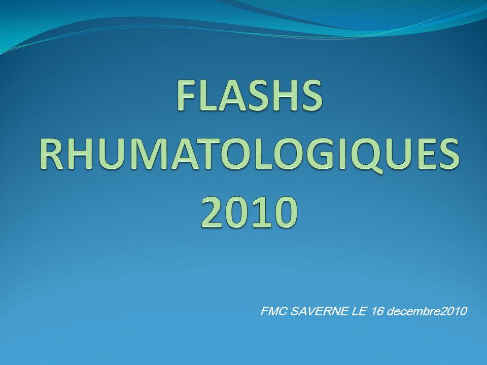 FLASHS RHUMATOLOGIQUES 2010