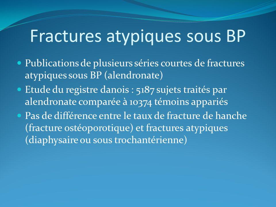 Fractures atypiques sous BP