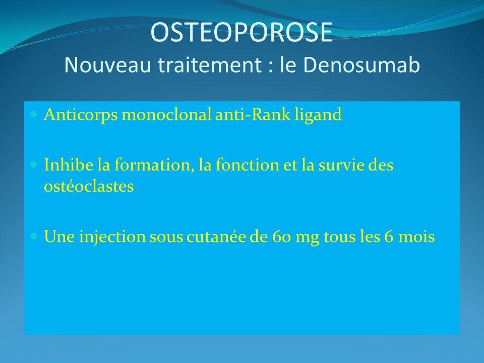 OSTEOPOROSE Nouveau traitement : le Denosumab