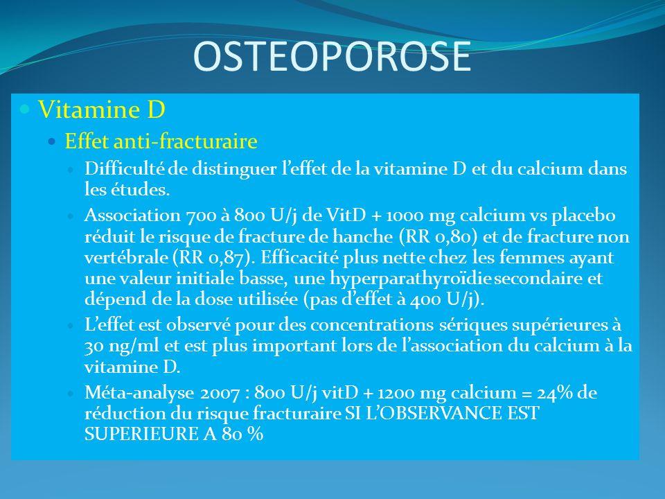 OSTEOPOROSE Vitamine D Effet anti-fracturaire