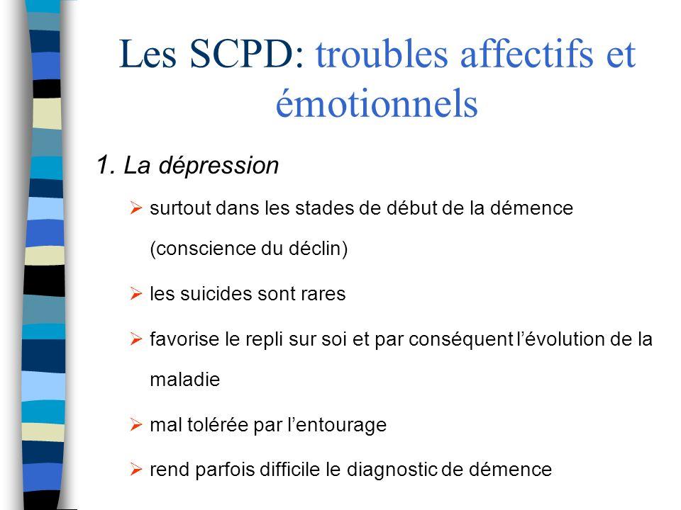 Les SCPD: troubles affectifs et émotionnels