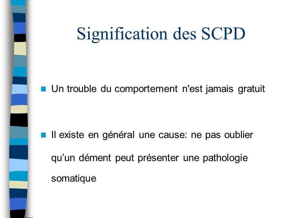 Signification des SCPD