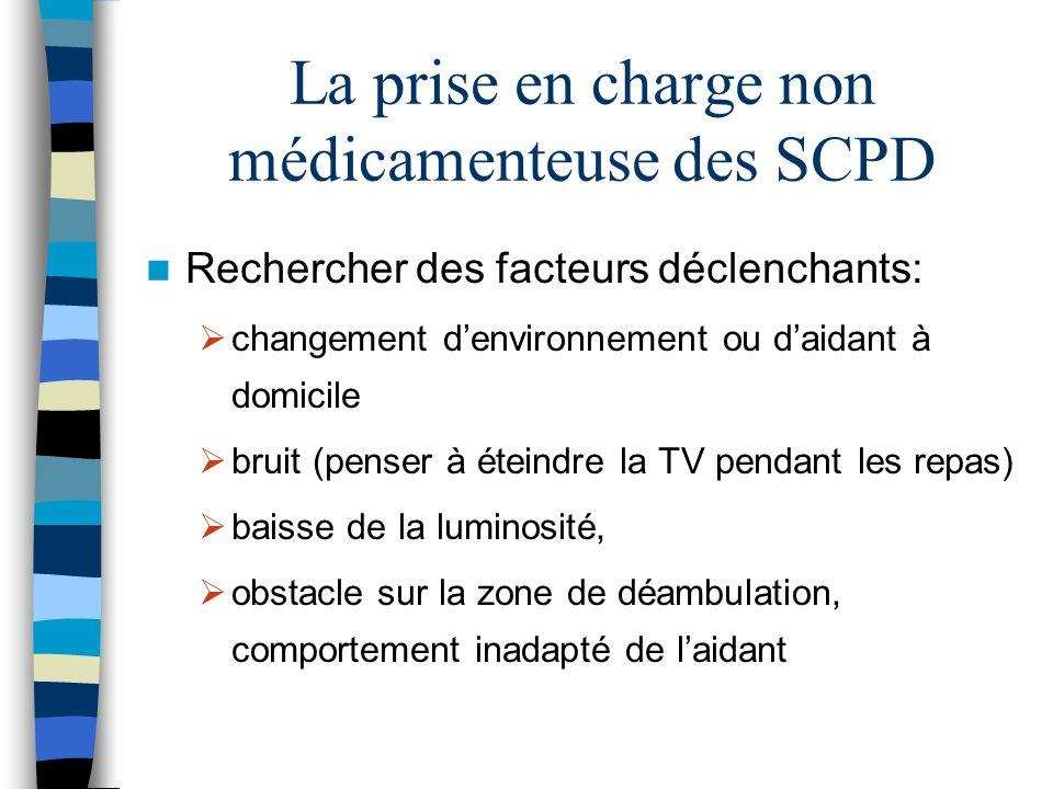 La prise en charge non médicamenteuse des SCPD