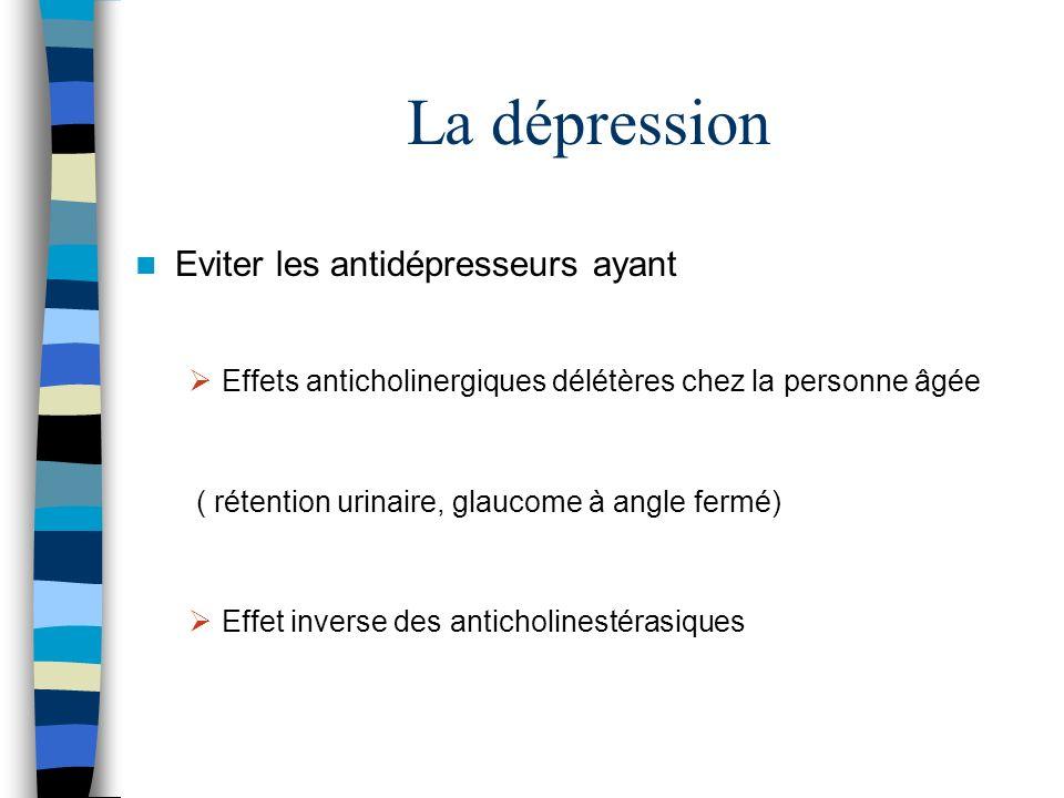 La dépression Eviter les antidépresseurs ayant