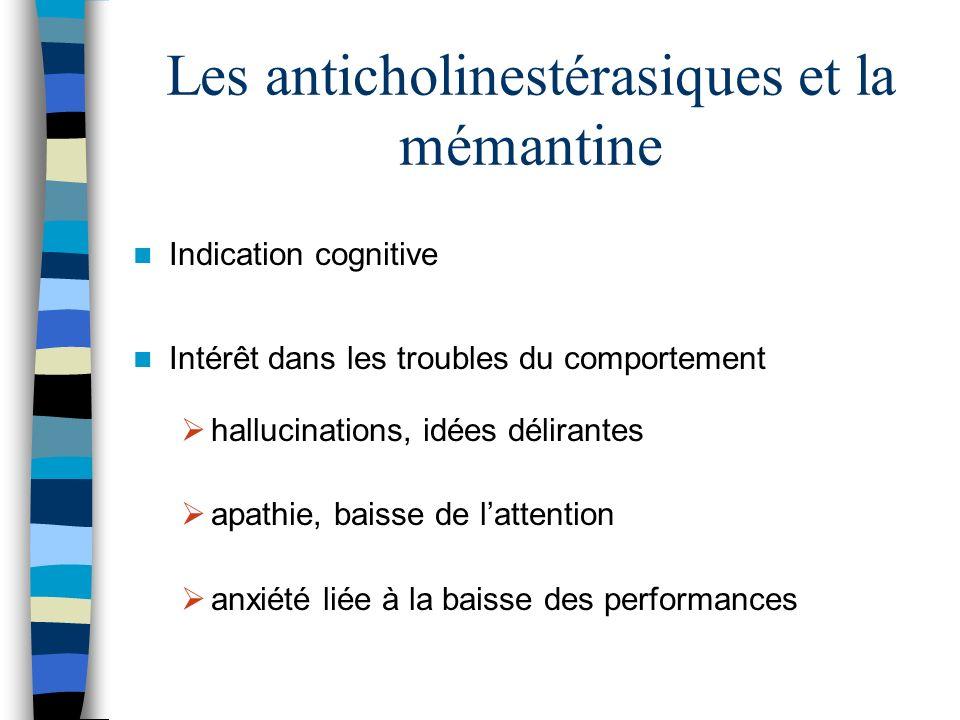 Les anticholinestérasiques et la mémantine