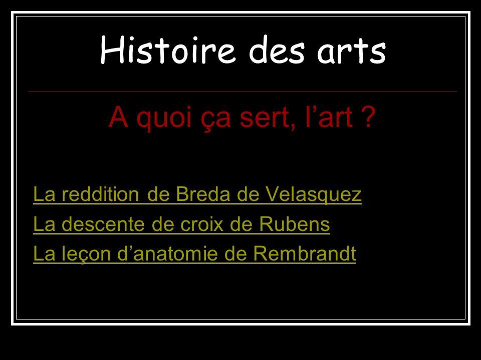 Histoire des arts A quoi ça sert, l'art