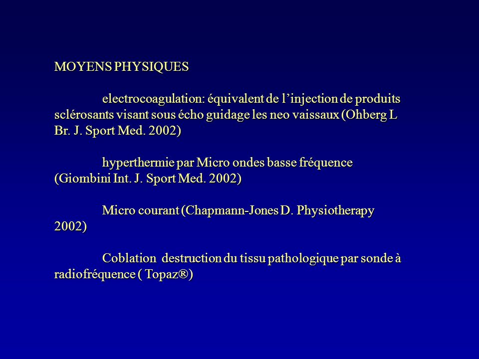 MOYENS PHYSIQUES