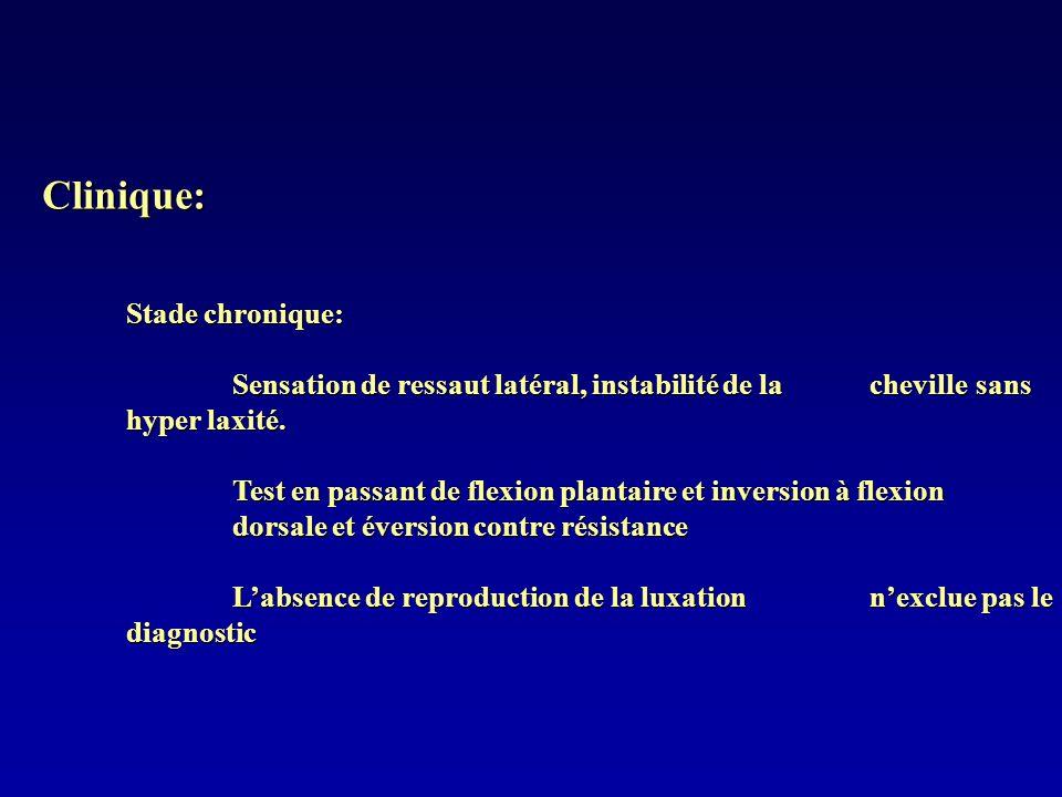 Clinique: Stade chronique: