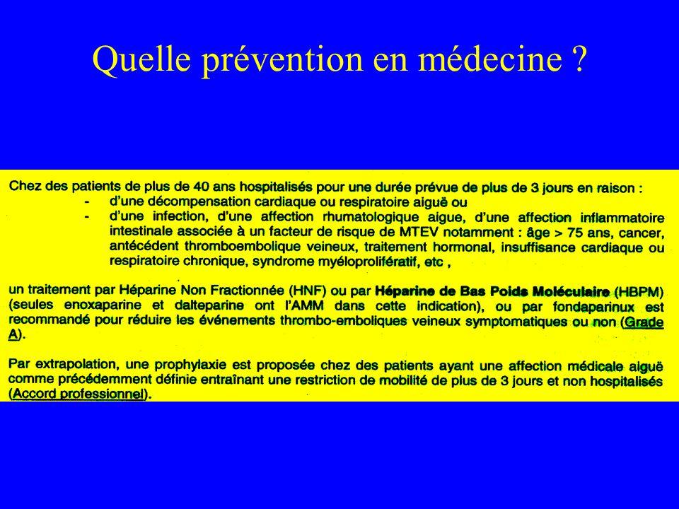 Quelle prévention en médecine