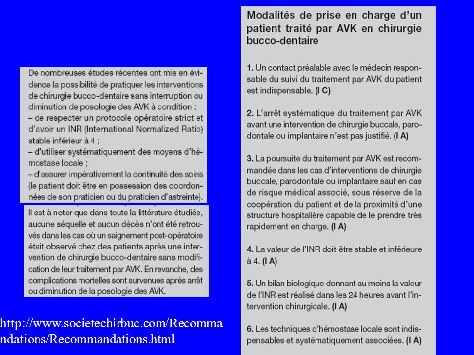 http://www.societechirbuc.com/Recommandations/Recommandations.html