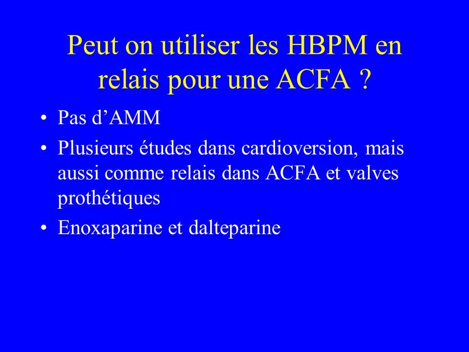 Peut on utiliser les HBPM en relais pour une ACFA