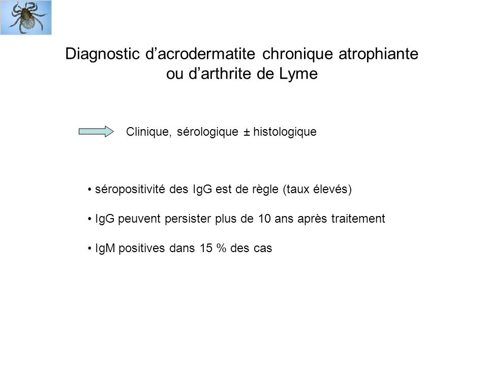 Diagnostic d'acrodermatite chronique atrophiante