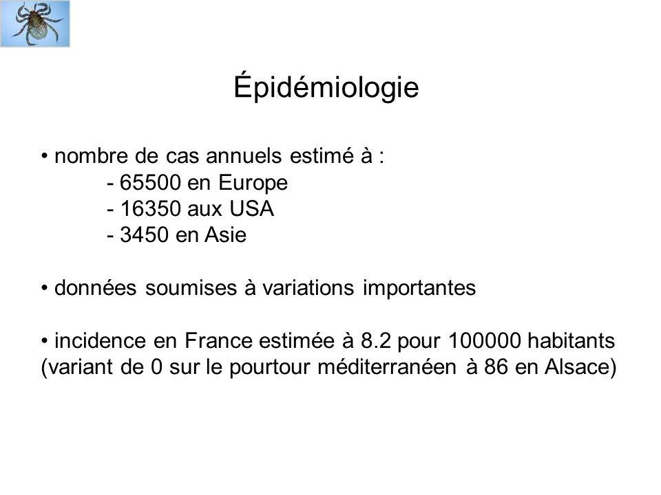 Épidémiologie nombre de cas annuels estimé à : - 65500 en Europe