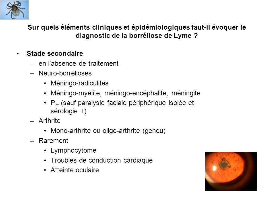 Sur quels éléments cliniques et épidémiologiques faut-il évoquer le diagnostic de la borréliose de Lyme