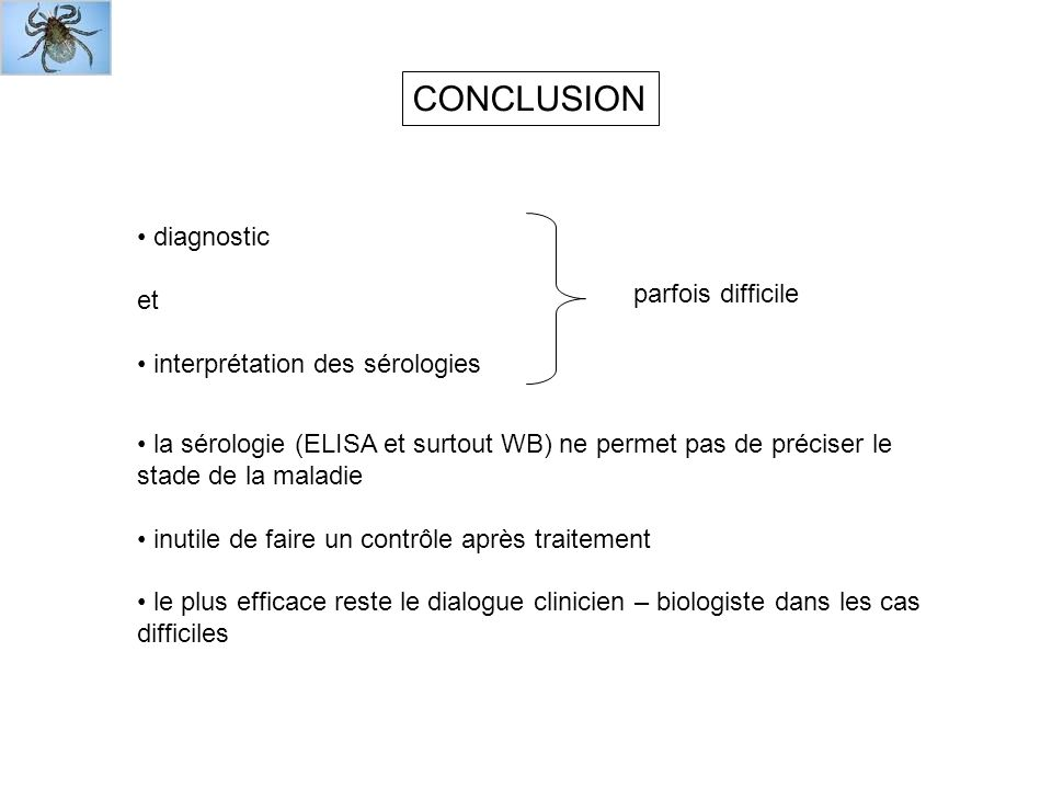 CONCLUSION diagnostic et parfois difficile