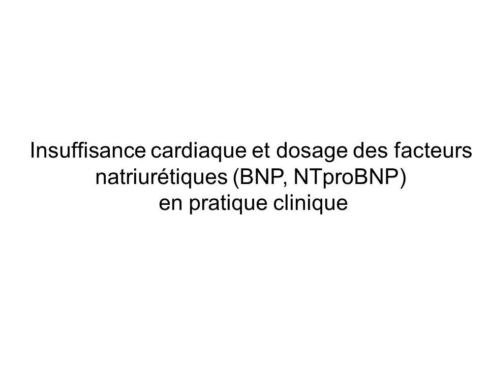 Insuffisance cardiaque et dosage des facteurs