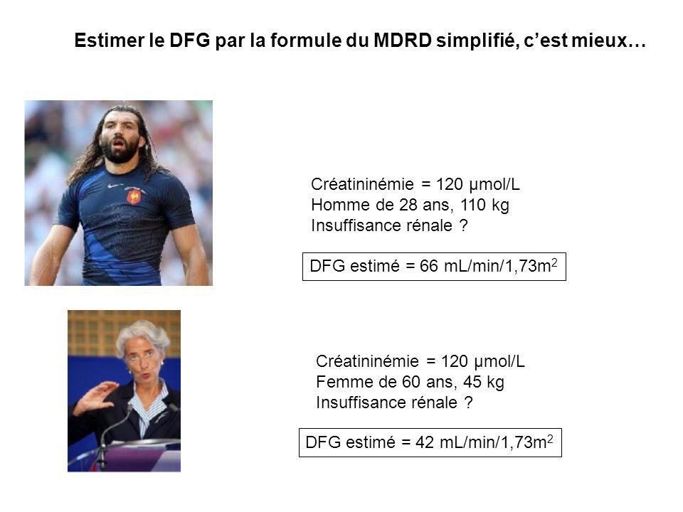 Estimer le DFG par la formule du MDRD simplifié, c'est mieux…