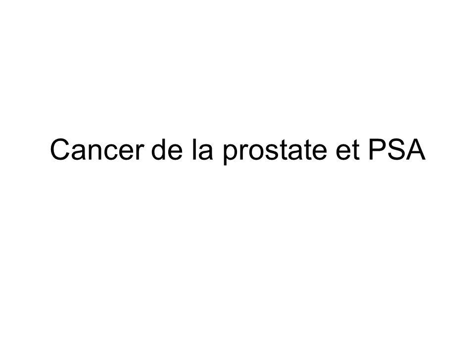 Cancer de la prostate et PSA