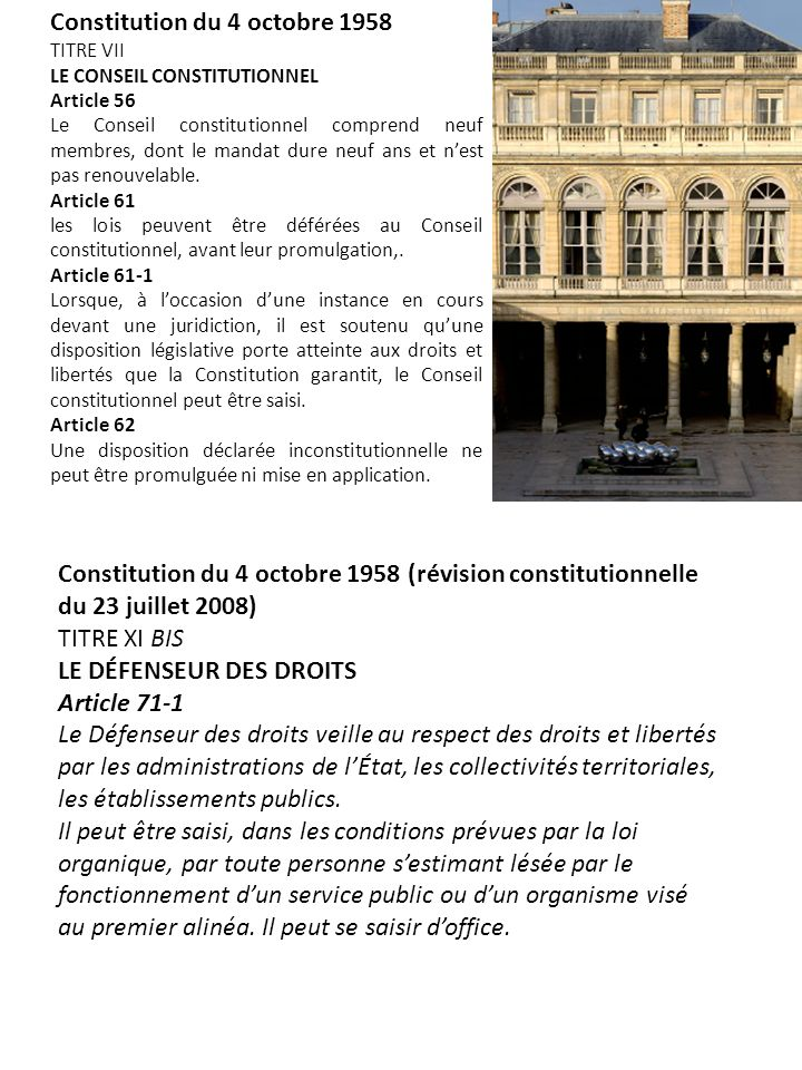 Constitution du 4 octobre 1958