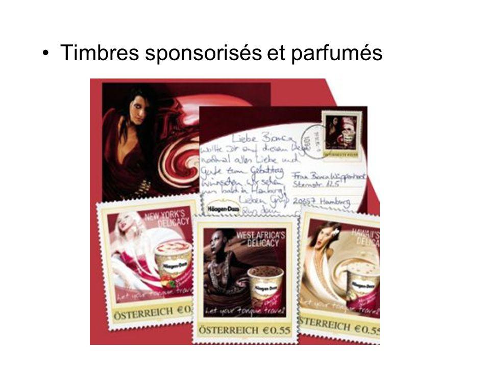Timbres sponsorisés et parfumés