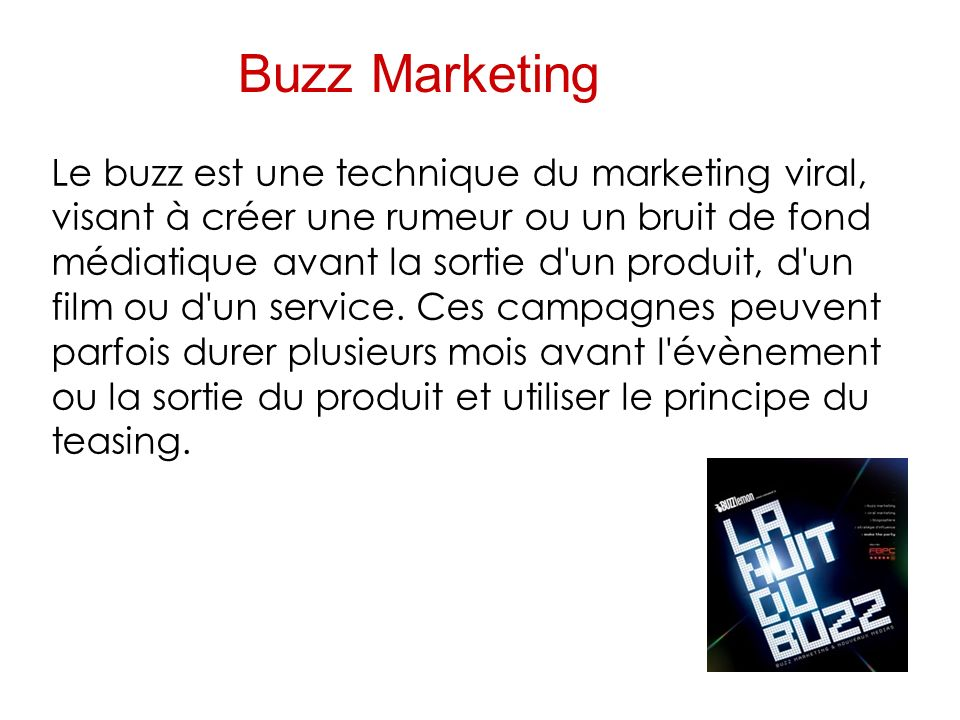 Buzz Marketing