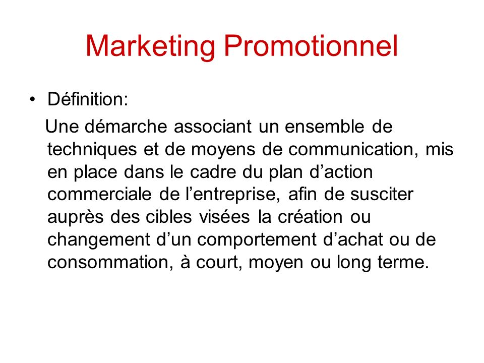 Marketing Promotionnel
