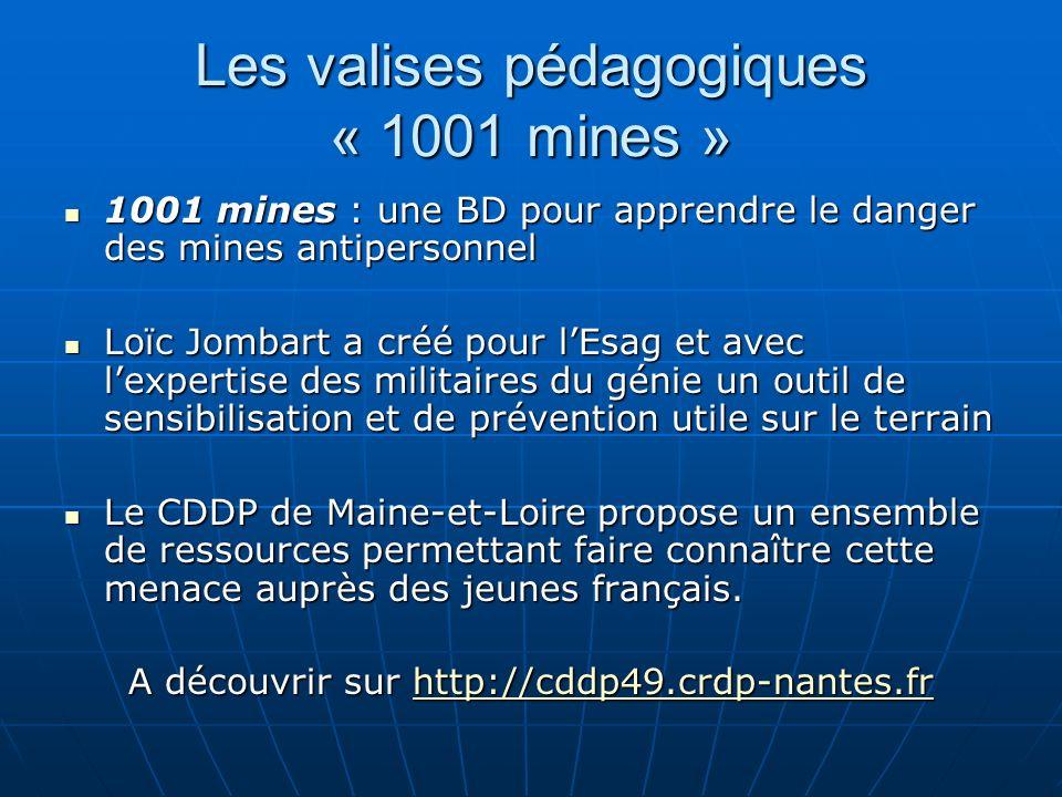 Les valises pédagogiques « 1001 mines »