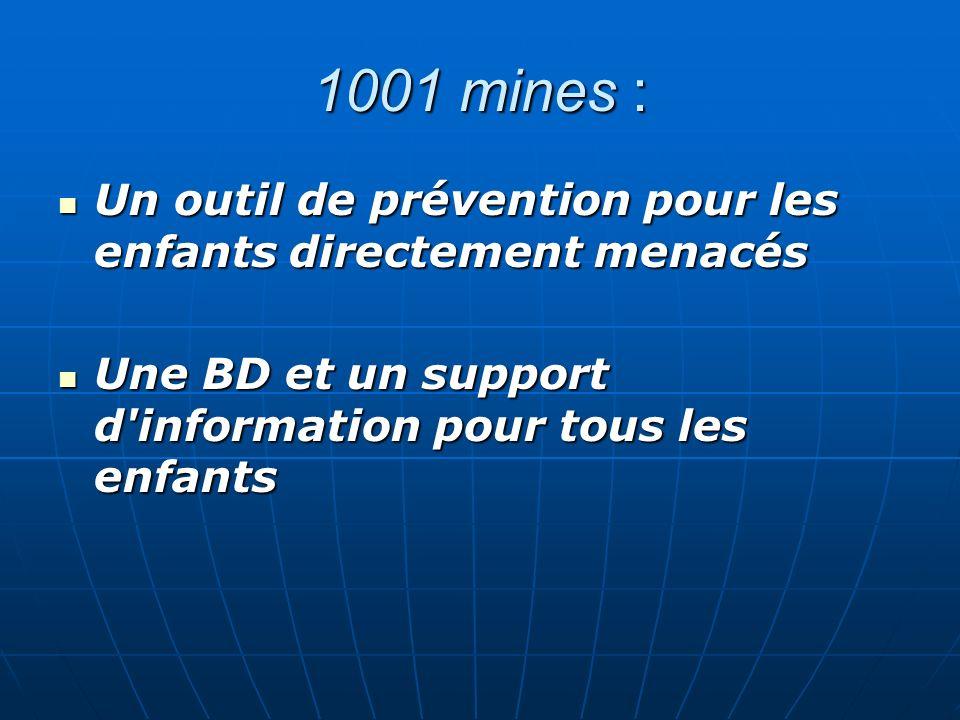 1001 mines : Un outil de prévention pour les enfants directement menacés.