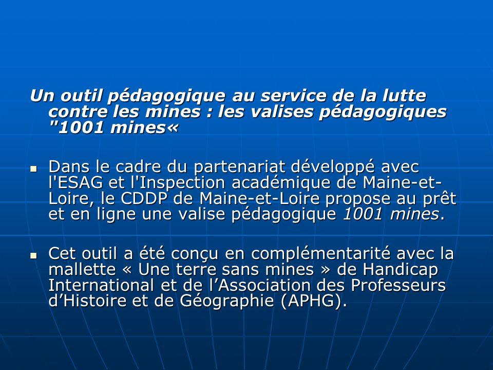 Un outil pédagogique au service de la lutte contre les mines : les valises pédagogiques 1001 mines«