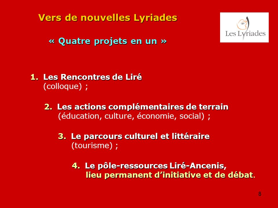 Vers de nouvelles Lyriades