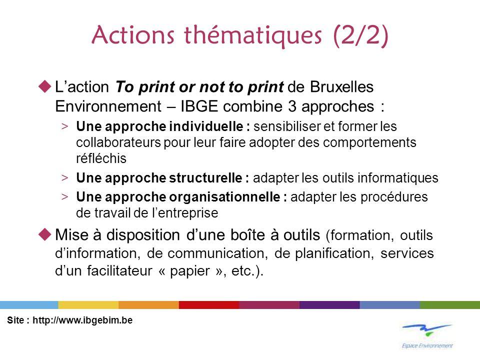 Actions thématiques (2/2)