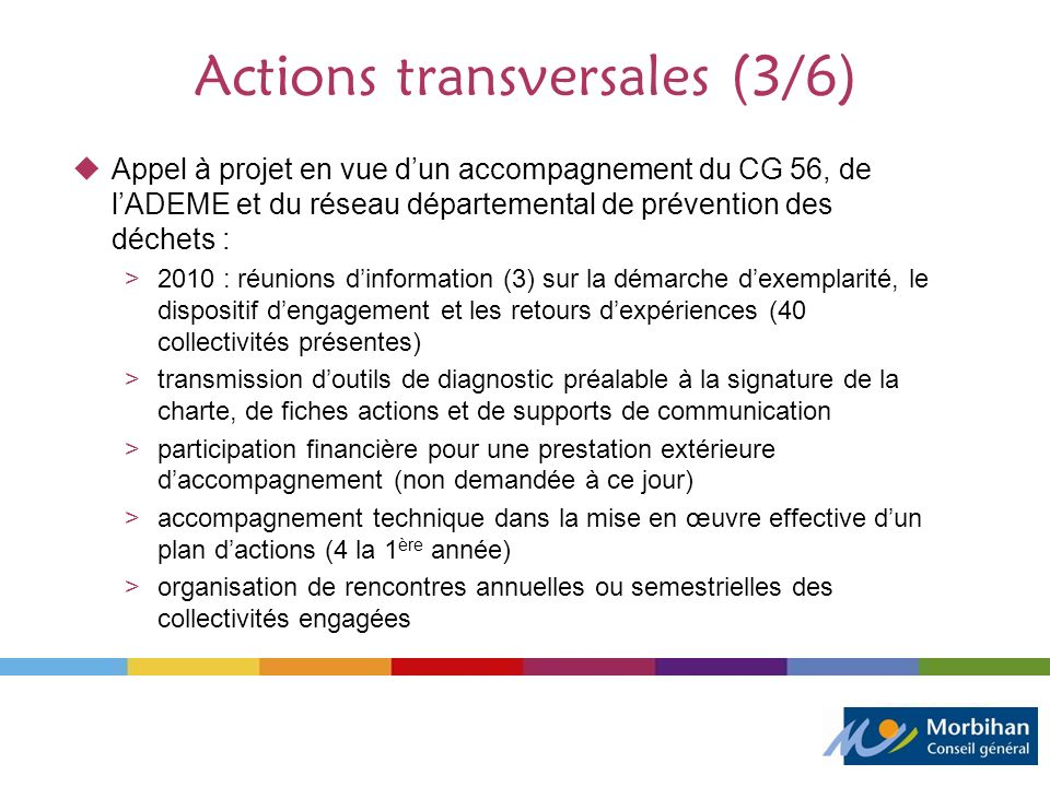 Actions transversales (3/6)