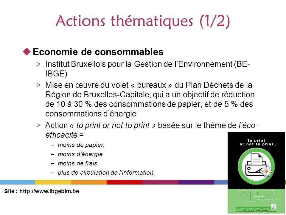 Actions thématiques (1/2)
