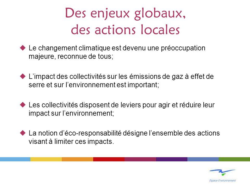 Des enjeux globaux, des actions locales