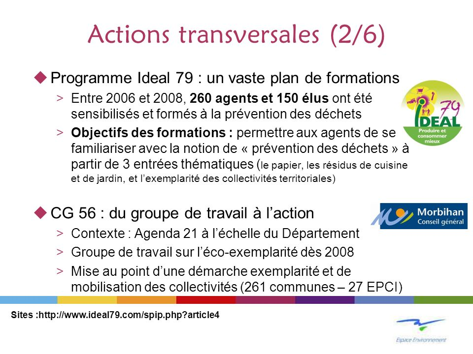 Actions transversales (2/6)