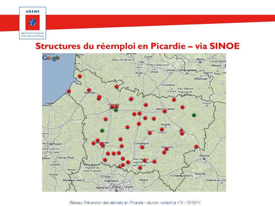 Structures du réemploi en Picardie – via SINOE