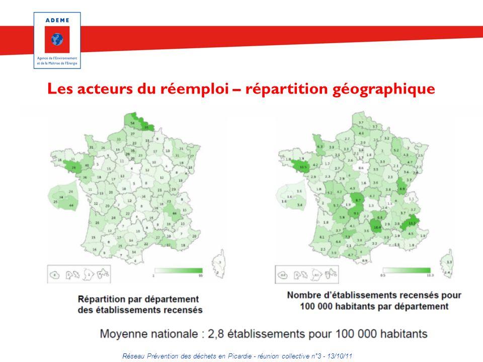 Les acteurs du réemploi – répartition géographique