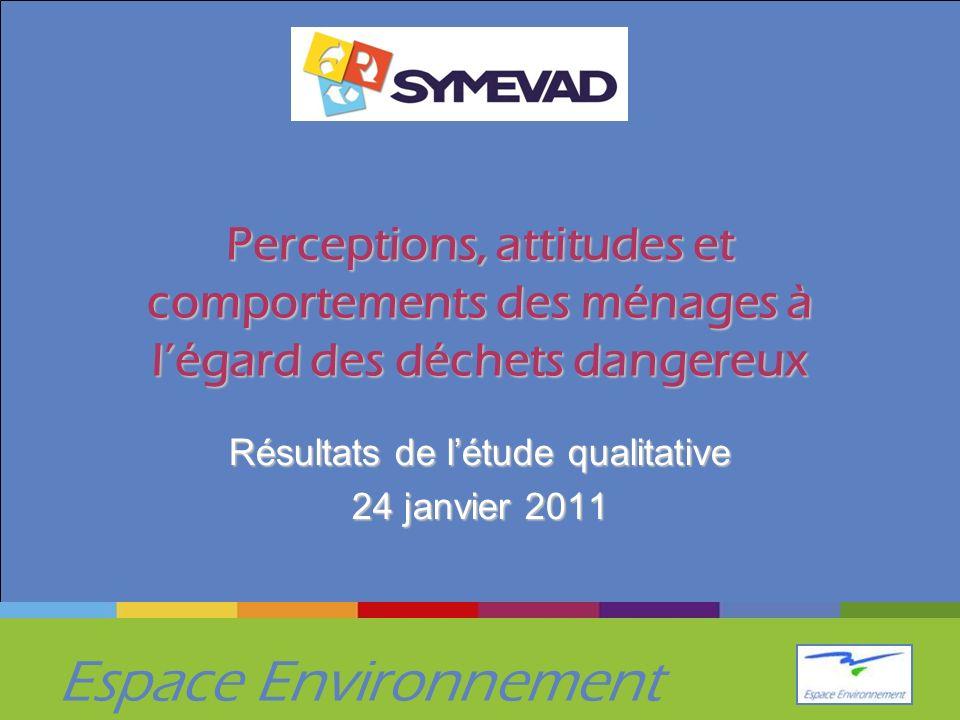 Résultats de l'étude qualitative 24 janvier 2011
