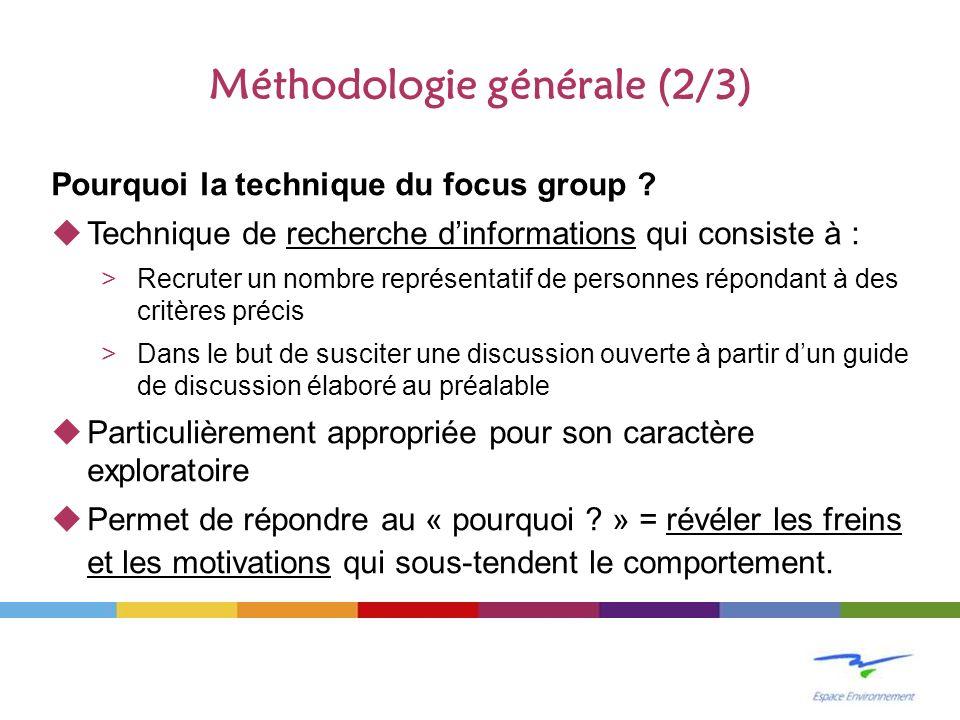 Méthodologie générale (2/3)