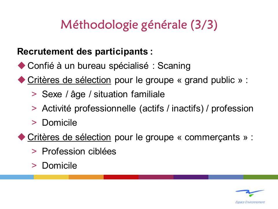 Méthodologie générale (3/3)
