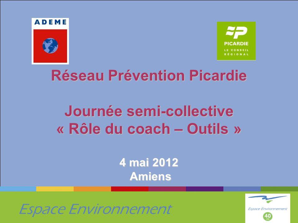 Réseau Prévention Picardie Journée semi-collective « Rôle du coach – Outils » 4 mai 2012 Amiens
