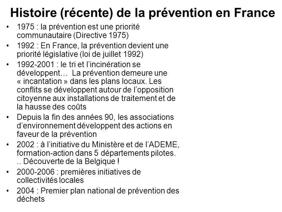 Histoire (récente) de la prévention en France