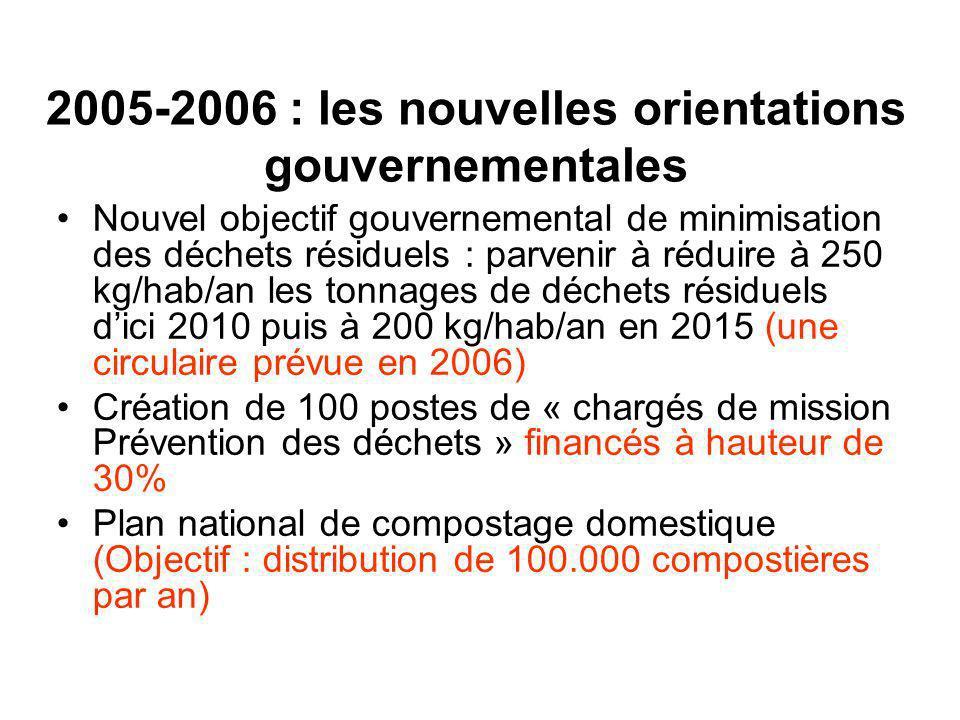 2005-2006 : les nouvelles orientations gouvernementales