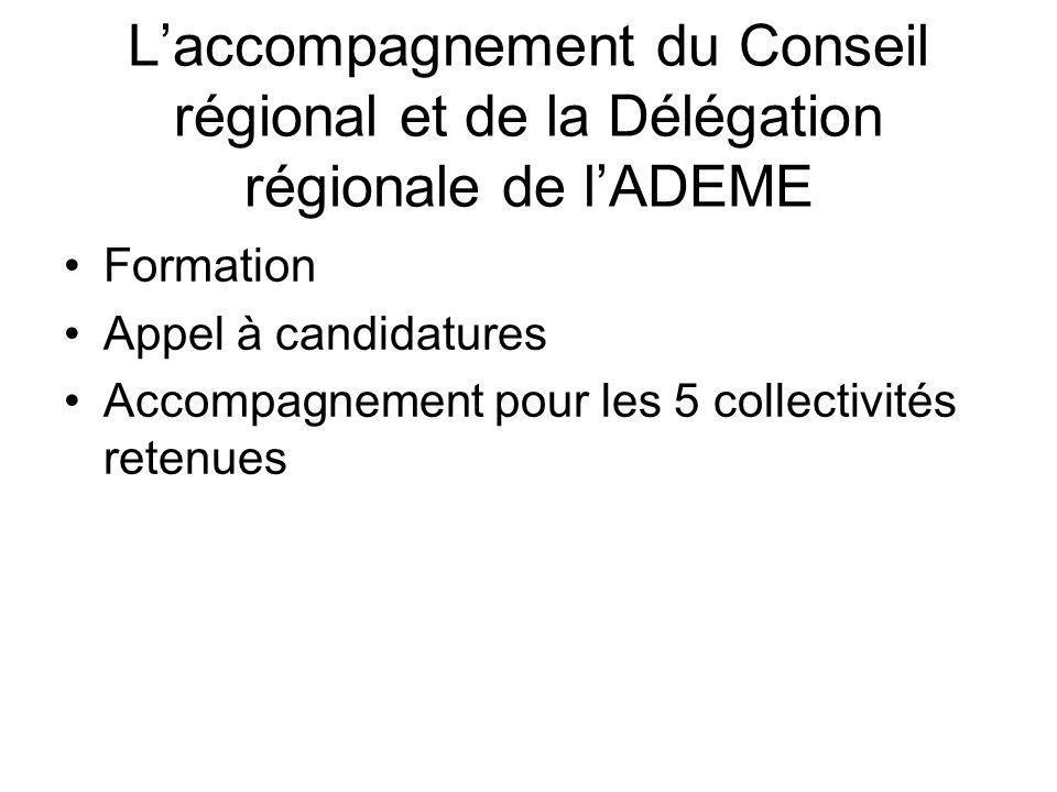 L'accompagnement du Conseil régional et de la Délégation régionale de l'ADEME