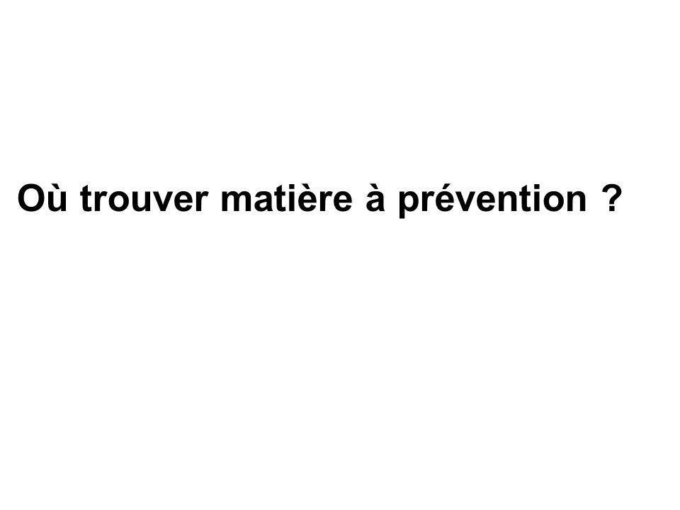 Où trouver matière à prévention